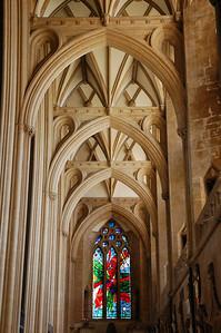 Inside Bristol cathedral.