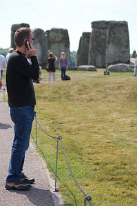 Visiting Stonehenge.