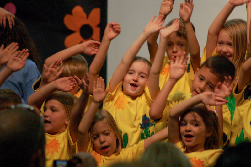 """Ainsley had a lot of fun performing many songs and poems with her class.  She even had a solo speaking part!  """"And then we learned all about life on the farm."""""""