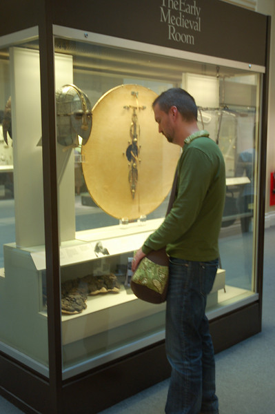 At the British Museum in London--I got to see the Sutton Hoo exhibit!