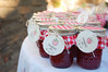 Strawberry jam favors.