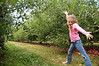 Ainsley had fun showing off her cartwheeling skills any time she found open ground.