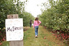 We went apple picking at the Long Family farm after the cider mill.