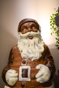 This chocolate Santa was about 3 feet tall and will haunt my dreams.