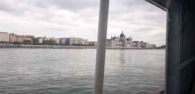 View from our hotel room on our boat.