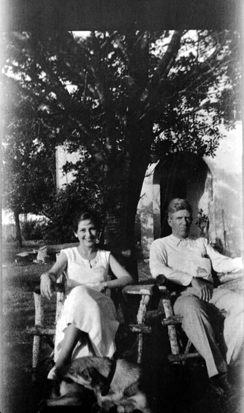 Mom with her father, William Charles Stephenson