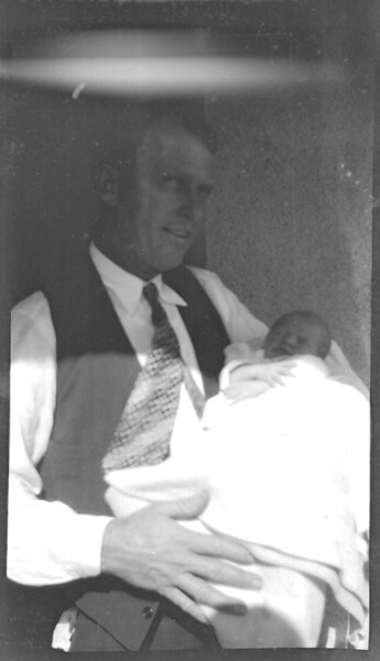 Jim Goodwin with one of the babies..