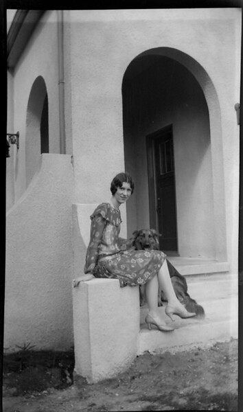 Winifred Stephenson Goodwin and guess who.......on the front steps of the Madison house (designed and build by W.C. Stephenson)