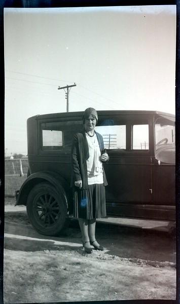 Mrs. Stephenson with brand new Model T Sedan  ! !