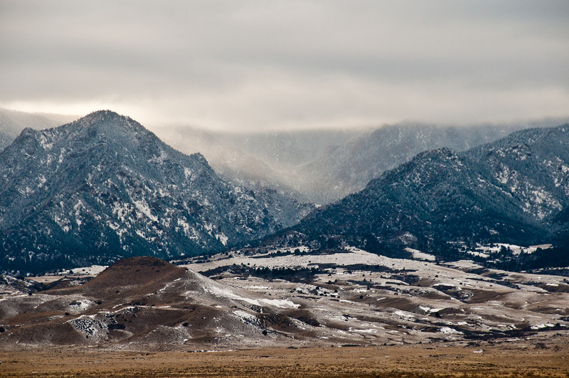 mountains as we headed south, leaving Colorado