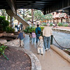San Antonio river walk which was empty for the annual draining