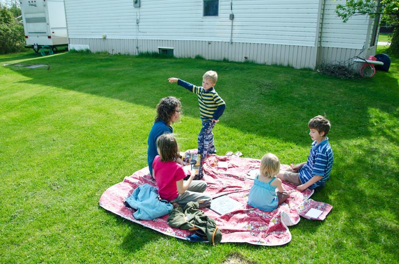 Backyard in Winnipegosis