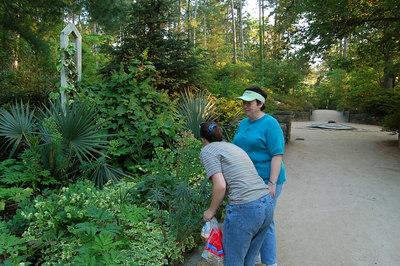Ellen & Linda examining plants