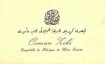 Dedem Osman Uşşaklı kartvizit