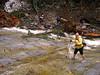 2173 Cori wading Denny Creek