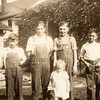 Left to right: Nobel Johnson, Elmer Johnson, Betty May Swanson, Alvin F. Johnson Sr., Edward G. Johnson.<br /> circa  1939-1930