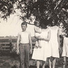 On the far left: Alvin f. Johnson Sr.<br /> On the far right: Edward G. Johnson <br /> Photo taken on the Tjaden farm 1925