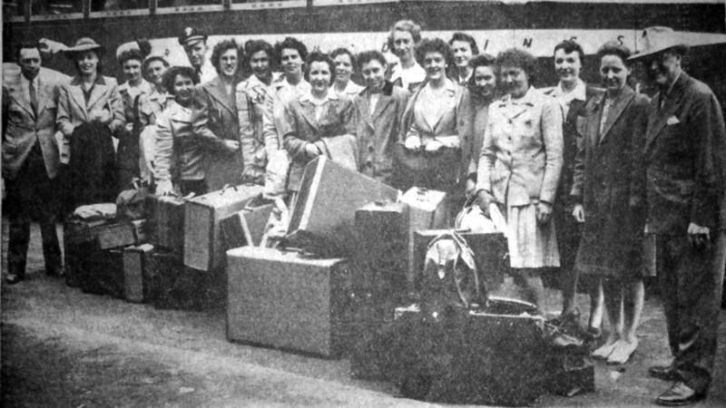 Rella Swamp Friday June 4, 1943 Rockford Girls Team 8th from left