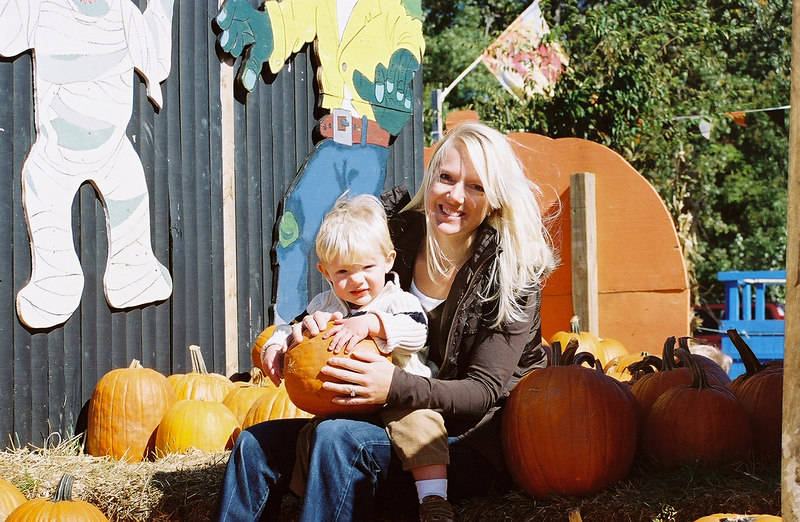 In Pumpkins with Mommy