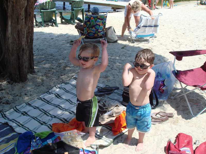 Cade and Jack at Smith Beach Flexing their GUNS!