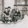 The twins with their uncles, John & Andy, Anchorage, mid 1940s