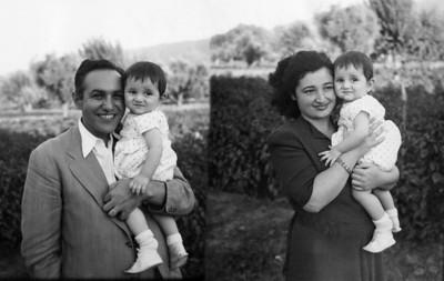 Babam ve annem, merhum abim Osman Uşşaklı ile, 1948