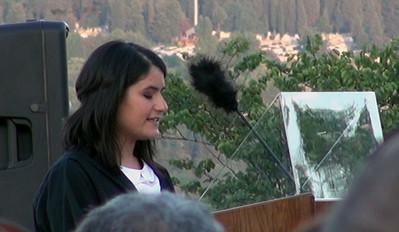 Student Speaker - Öğrenci konuşmacı Sıla KÜÇÜKOSMANOĞLU