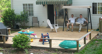 Dad and I enjoying our complete deck!