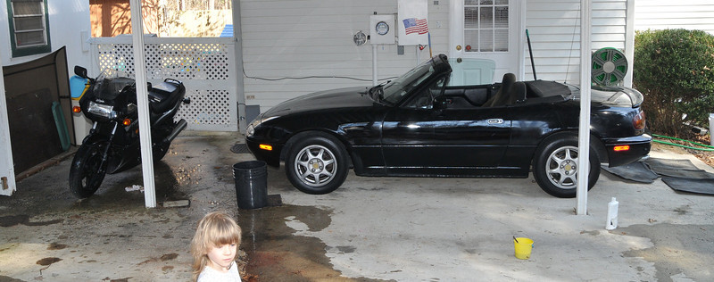 there is room for the Ninja and the Miata!