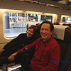 on the train from Toledo