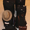 two checked- in bags and three hand carried plus the camera, ready for the travel. we ended up with more than we needed, extra pants, shoes, sweater, shirts.<br /> I booked with American Airlines, Norwegian Cruise Lines, prepaid the hotel thru Hotels.com and Eurail tickets.