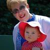 Savannah with Nana at <br /> Morcom Amphitheater of Roses, <br /> Oakland, CA <br /> July 27, 2009