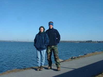 Ellen & I on the St. Lawrence River