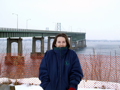 Ellen @ the Intl. Bridge