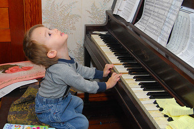 Evan playing the piano