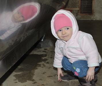 Ella explores the bulk tank room
