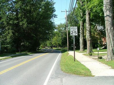 Rt. 7 in Reedsville looking towards the park