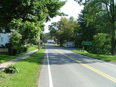 Rt. 7 in Reedsville looking towards the intersection with Rt. 119