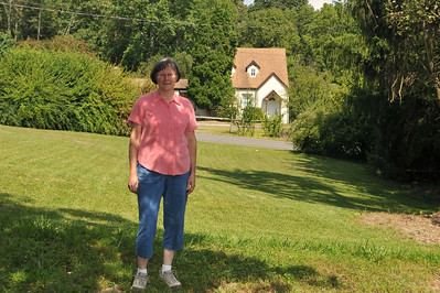 Carol with her best friend's house