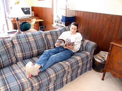 Ellen relaxing