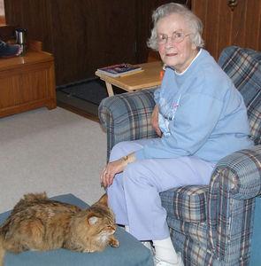 grandma & the cat