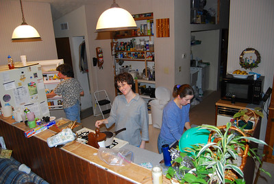 The ladies in the kitchen