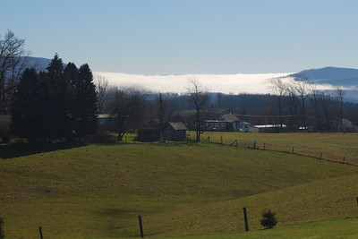 fog rolling off the mountain, this is taken from Campground Rd