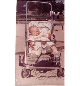 Karl at Westwood Village in December '63