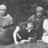 Lipmanovich sisters (my aunts) c. 1926, countryside of Lodz