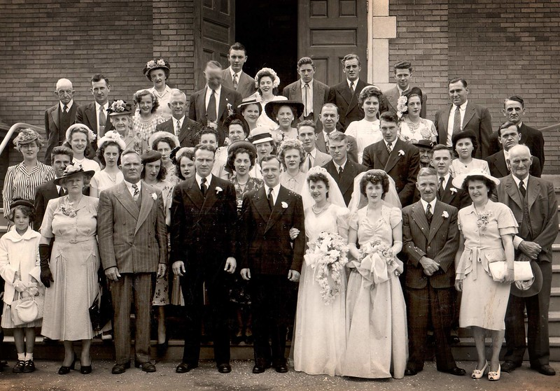 Leo and Leoza Fillion Wedding, 1948-07-17