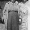 Channa Ray Brandzel with daughter-in-law Bella Garcash, c. 1924, Stazow, Poland
