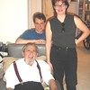 Dan Lipman, seated, Rita Eichenstein, Kenneth Lipman (at my Beverly Hills condo in 2000)