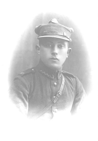 Harold Brandzel (my uncle) in Polish Army, c. 1922