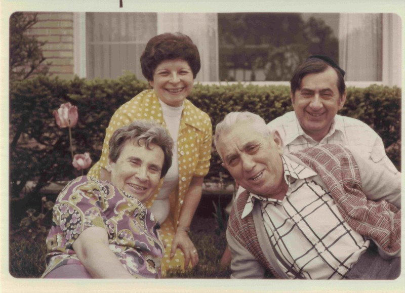 Top: Regina and Dan Lipman. Bottom: Devorah and David Lipmanovich. Lincolnwood, 1974.